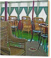 First Class Lounge In S S Klondike On Yukon River In Whitehorse-yt Wood Print