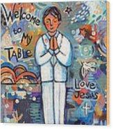 First Communion Boy Wood Print