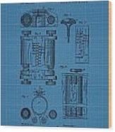 First Computer Blueprint Patent Wood Print