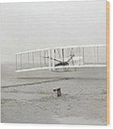 First Flight Captured On Glass Negative - 1903 Wood Print