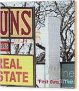First Guns Then Land Wood Print