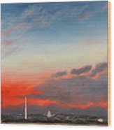 Obama Inaugural Sunrise 2 Wood Print