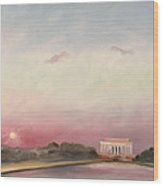 Obama Inaugural Sunset Wood Print