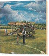 First Landing At Shepherd's Field Wood Print