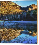 First Light At Pinnacle Lake Wood Print