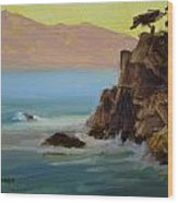 First Light At Point Lobos Wood Print