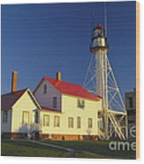 First Light At Whitefish Point Wood Print