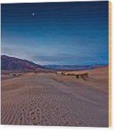 First Light Dunes Wood Print