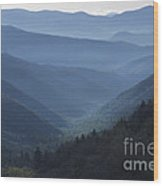 First Light On Clingman's Dome Wood Print