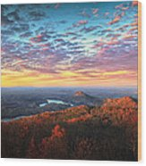 First Light Over The Ocoee River Wood Print