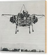 """First Official Picture Of Britain's """"flying Bedstead"""" Wood Print"""