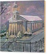 First Parish Church Wood Print