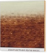 First Picture From Mars 3 Probe Wood Print