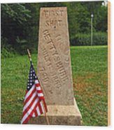 First Shot Monument Gettysburg Wood Print