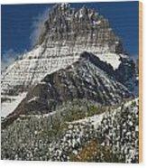 First Snow At Mount Wilbur  Wood Print