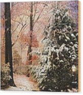 First Snow Wood Print