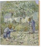 First Steps Van Gogh Wood Print