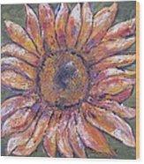 First Sunflower  Wood Print