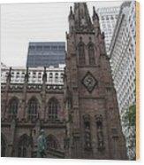 First Trinity Church Nyc Wood Print