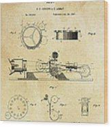 First True Motion Picture Projector Patent  1897 Wood Print