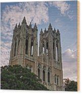 First United Methodist Church Fort Worth Wood Print