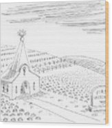First Vegetarian Church.  A Pineapple Instead Wood Print