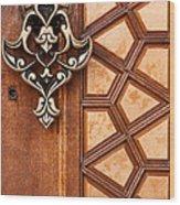 Firuz Aga Mosque Door 04 Wood Print