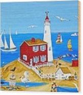 Fisgard Lighthouse Wood Print