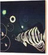 Fish Bubbles Wood Print