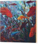 Fish Chatter Wood Print