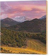 Fish Creek Pass Sunset Wood Print