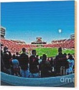 Fish-eye View Of The Jones Stadium Wood Print
