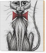 Fish Face The Cat Wood Print
