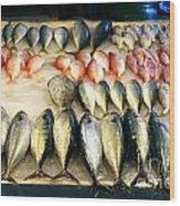 Fish For Sale In Taiwan Wood Print
