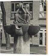 Fish Fountain Cologne Wood Print