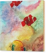 Fish In The Sea Wood Print
