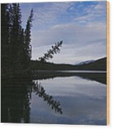 Fish Lake At Nordegg 05 Wood Print