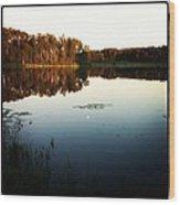 Fish Lake Evening Wood Print