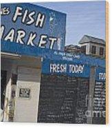 Fish Market In Hobart Wood Print