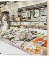 Fish Market Wood Print