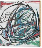 Fish Morden Art Drawing Painting Wood Print
