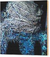 Fish Net Santorini Island Greece  Wood Print