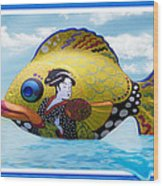 Fish Of The Orient Wood Print