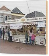 Fish Stall In The Market In Steenwijk Netherlands Wood Print