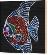 Fish Tales Wood Print