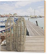 Fish Trap On Jetty In Penang Wood Print