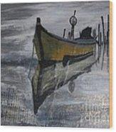 Fishboat Wood Print