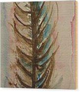 Fishbone Or Feather Wood Print