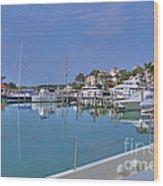 Fisher Island Marina Reflections Miami Fl 2  Wood Print