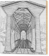 Fisher Railroad Covered Bridge Wood Print